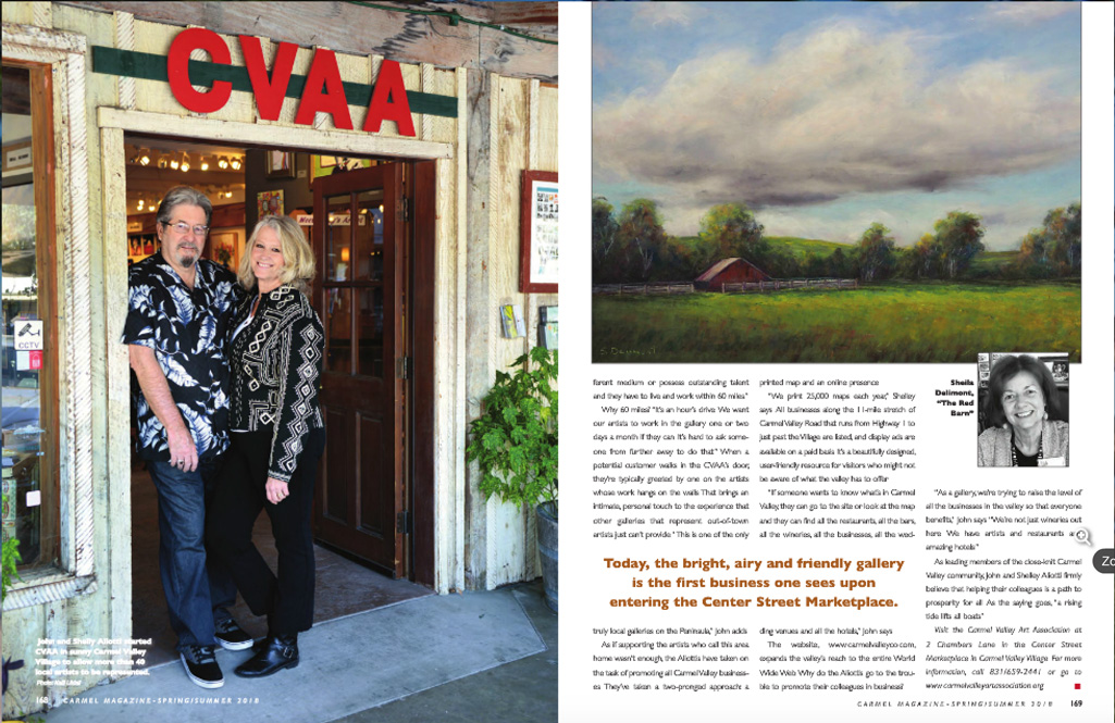 Carmel Mag, article about CVAA spring-summer 2018